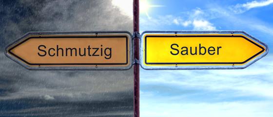 Strassenschild 2 - Sauber