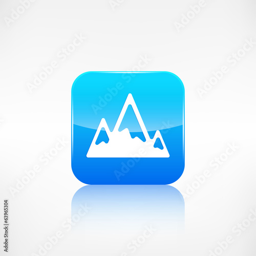 Mountains web icon