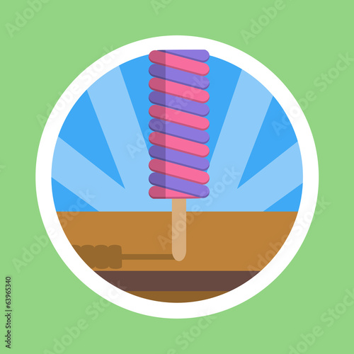 Colorful Popsicle Illustration