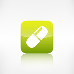 Medical pills icon. Application button.