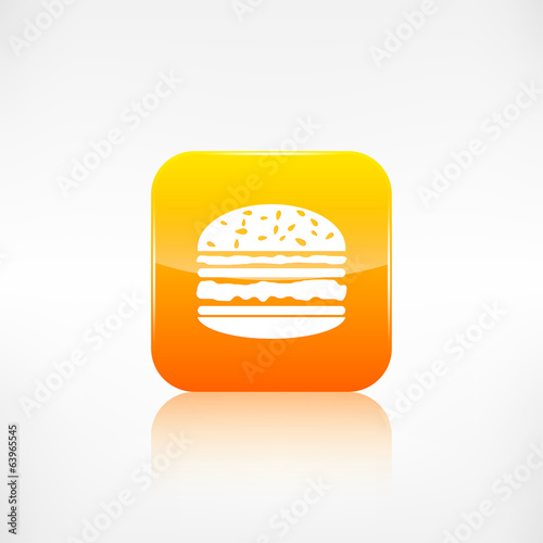 Hamburger web icon. Application button.
