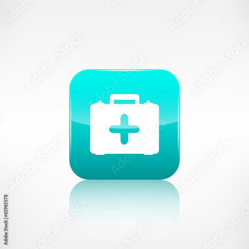 First aid kit icon. Application button.