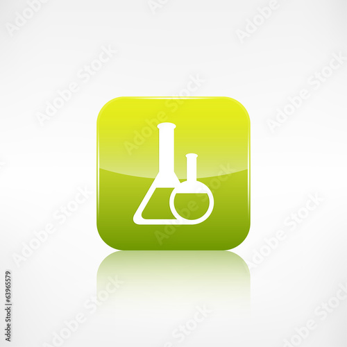 Medical flack icon. Application button.