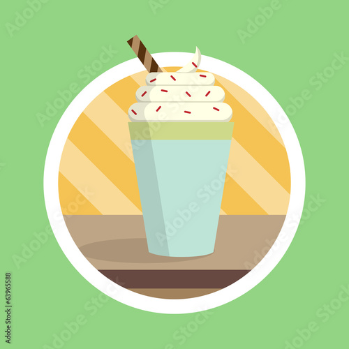 Tasty Smoothies Drink Illustration