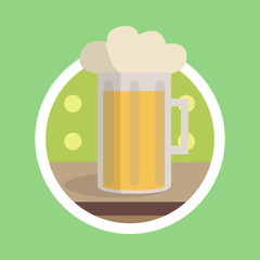 Glass of Beer Illustration