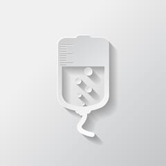 Medical dropper web icon