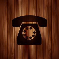 Retro telephone web icon