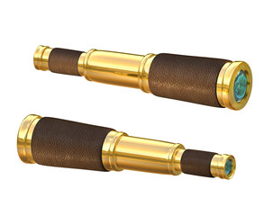 Old telescope spyglass pirate style