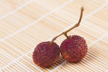Lychees fruit of THAILAND.