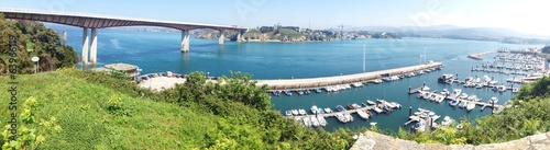 Panoramic view of seaport of Ribadeo, Spain