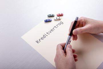 Kreditvertrag mit Autos