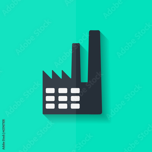 Power station icon. Flat design.