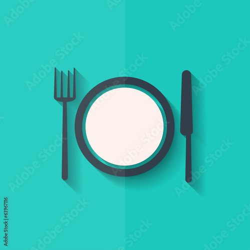 Plate web icon. Flat design.
