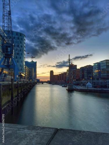 canvas print picture Hafencity Hamburg