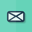 Letter icon. Email message. Sms. Flat design.