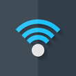 Wireless web icon. Flat design.