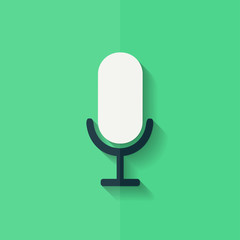 Microphone icon. Voice recording. Flat design.