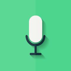 Microphone icon. Voice recording. Flat design.
