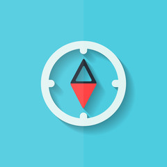 Compass web icon. Flat design.