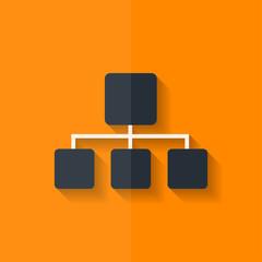 Network icon. Flat design.