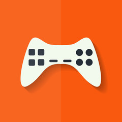 Joystick web icon. Flat design.