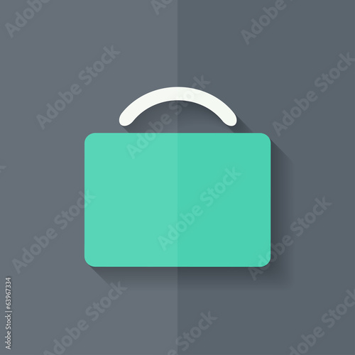 Portfolio web icon. Bag symbol. Flat design.