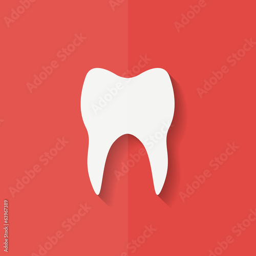 Tooth web icon. Flat design.