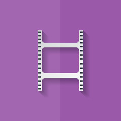Film web icon. Filmstrip symbol. Flat design.