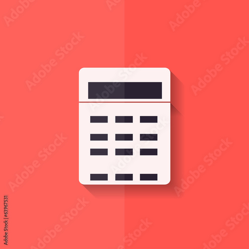 Calculator web icon. Flat design.