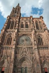 Famous Notre Dame de Strasbourg, Alsace, France
