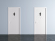 toilet doors for male and female genders - 63967942