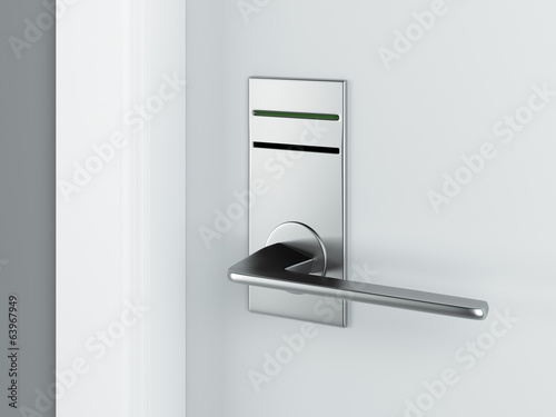 Door and electronic lock