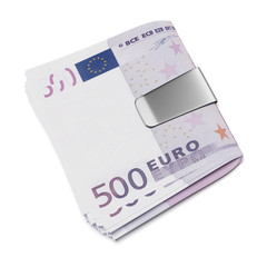 Euro in money clip