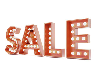 Red sale advertisment sign