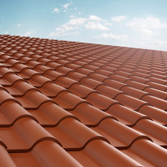 roof tile over blue sky