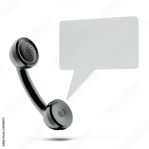 handset  with chat bubble