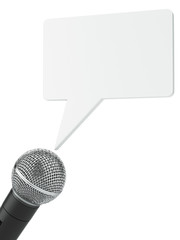 microphone with bubble chat