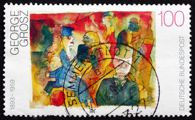 Postage stamp Germany 1993 Café, by George Grosz