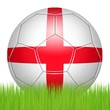 British soccer ball on the lawn