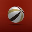 Globe or Ball Design Vector Illustration with Striped Surface