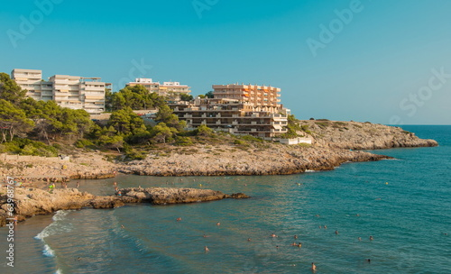Hotels and the beach resort of Salou in Spain