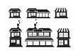 house and shop store icons