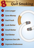 8 Reasons to Quit Smoking -Info-graphics template poster