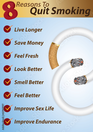 8 Reasons to Quit Smoking -Info-graphics template