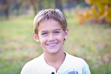 Tween Boy Smiling