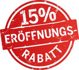 Button 15% Eröffnungsrabatt