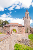 Adolfsturm und Nordtor der Friedberger Burg