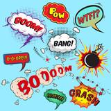 Comic speech bubbles design elements collection