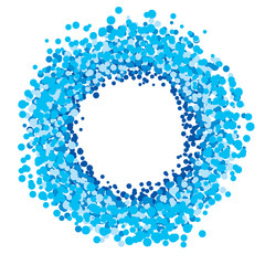 blue circle of dots