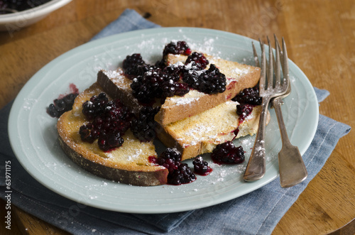 Toasts with berries